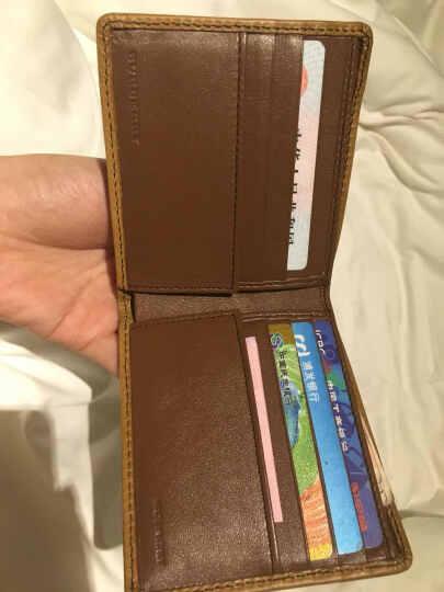BURBERRY 巴宝莉 男款HORSEFERRY CHECK棕褐色牛皮织物格纹折叠式钱夹 39382001 晒单图