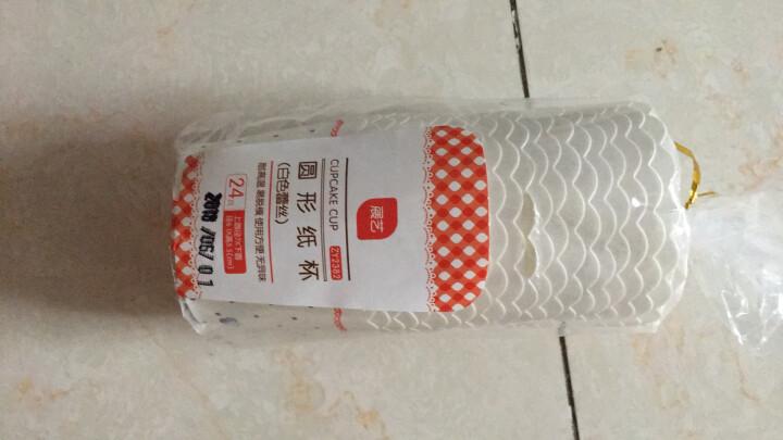 展艺烘焙模具 马芬杯中号蛋糕纸杯耐高温 24个左右 白色蕾丝 晒单图