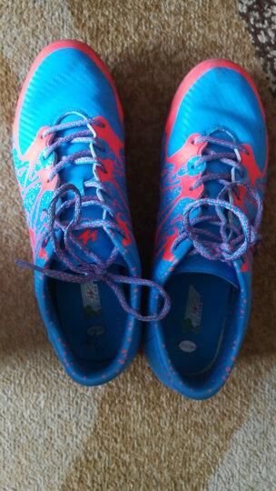 双星男子足球鞋成人橡胶钉碎钉球鞋室内训练比赛皮足 667010 宝蓝/桔 44 晒单图