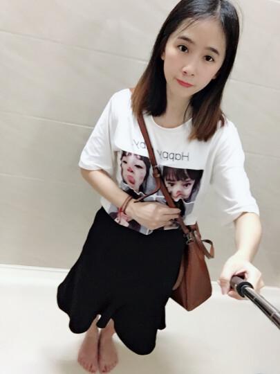 纳兰杜(Nalandu)女包2020新款单肩包女牛皮大包休闲时尚购物袋女士包包 黑色 晒单图