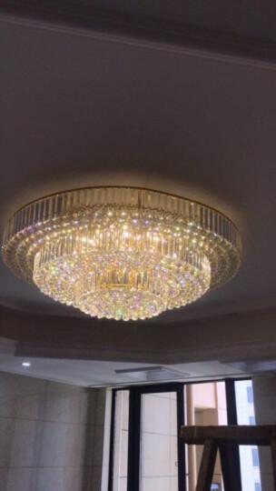 曌朵客厅灯吸顶灯水晶灯圆形灯具卧室灯餐厅灯客厅卧室led现代简约灯 LED三色变光+遥控+三层120CM+438球 送LED光源 晒单图