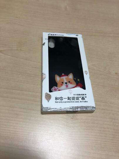 亿色(ESR) iphone X手机壳防摔全包 狗年时尚男女通用 苹果x手机套抗摔(镜面玻璃+硅胶)琉璃款-壁咚基 晒单图