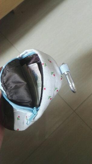 一口米 小清新田园碎花书包零钱包 浅绿色 晒单图