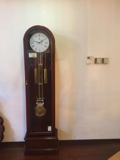 POWER 霸王欧式落地钟赫姆勒立钟创意机械座钟客厅大号摆钟现代立式钟表中式美式中国风北欧红木时钟 红木色阿拉伯字钟面 优质实木 晒单图