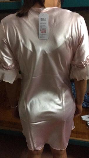南极人(Nanjiren)睡裙 女夏冰丝公主甜美短袖睡衣女士韩版薄款家居服性感睡衣N676X20042-8 香槟色M 晒单图