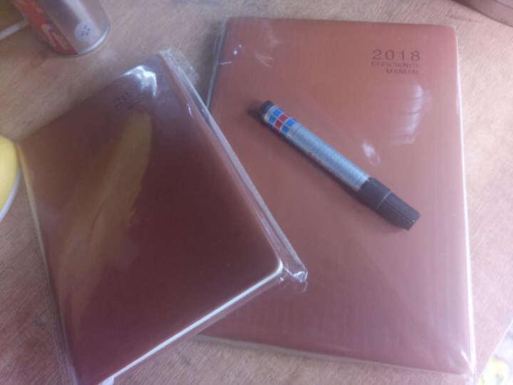 2019年日程本B5效率手册工作日历记事本365每日计划本A5创意简约韩国学生时间轴管理笔记本子文具 25K棕色 晒单图