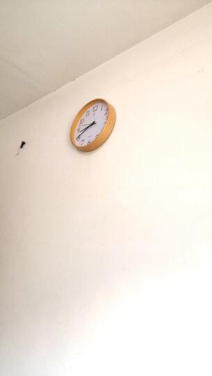 北极星(POLARIS) 时尚卧室客厅钟表日式简约家用大挂钟北欧创意静音圆形实木钟表宜家简约石英钟 中号数字面 晒单图
