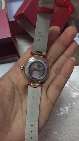 依波(EBOHR)手表 炫彩系列时尚红色牛皮带机械女表36080243 晒单图