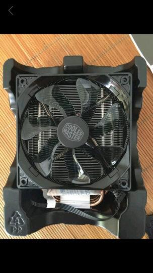 酷冷至尊(CoolerMaster)T400i (蓝光)CPU散热器(支持I9 2066/4热管/PWM温控/LED风扇/背锁扣具/直触热管) 晒单图