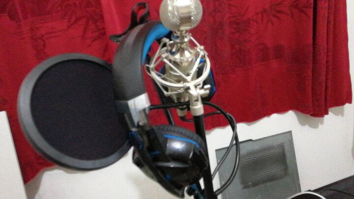 凯浮蛙(KFW)WS-04 专业双层K歌录音麦克风话筒防喷罩防喷网 悬臂支架通用 晒单图