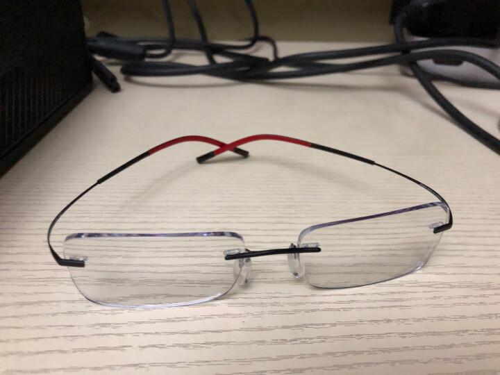 Silhouette 诗乐 男款黑色无框光学眼镜架眼镜框 7579 52 6058 53MM 晒单图