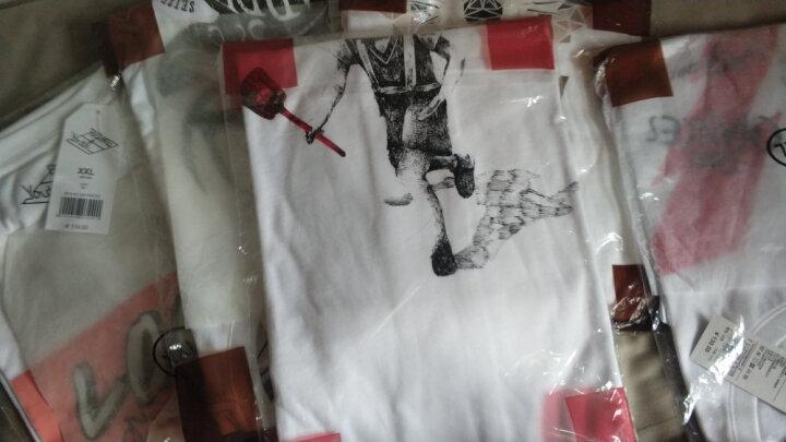 【售罄】Baleno/班尼路 夏季动物印花T恤男 纯棉休闲潮流半袖体恤男装 W98漂白 M 晒单图