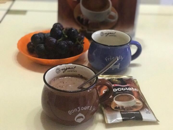 送杯勺】马来西亚益昌老街 香滑热巧克力可可粉 朱古力冲饮奶茶小包 600g 晒单图