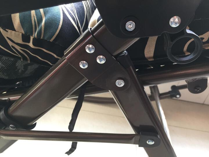 阑珊阁 LANSHANGE  金属简约午休办公单人摇椅成人躺椅折叠椅户外凳子沙滩椅简易 高档摇椅棕色 晒单图