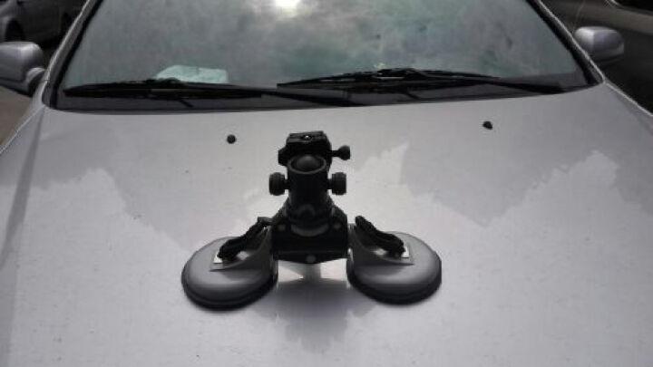 麦力单反车载稳定器吸盘车载吸盘稳定器 汽车车用摄像支架底座双盘位双吸盘含云台 晒单图