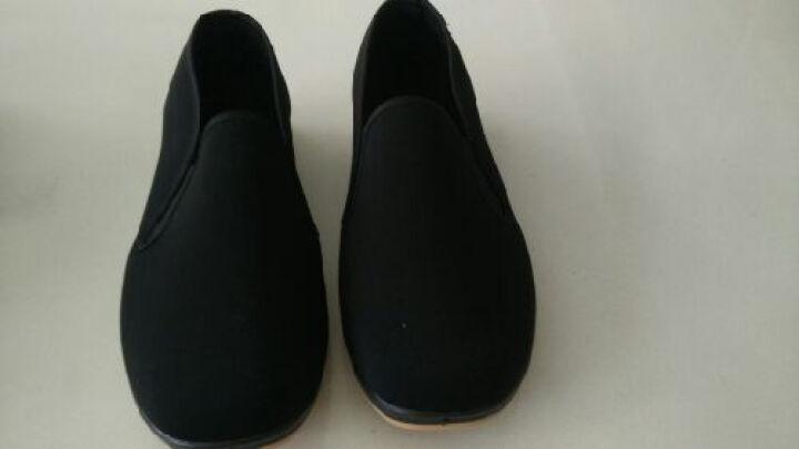 御福轩 老北京布鞋 爸爸鞋 春秋款 舒适 防滑 老人鞋 平跟 硫化底 传统相巾口 休闲鞋 黑色 38 晒单图