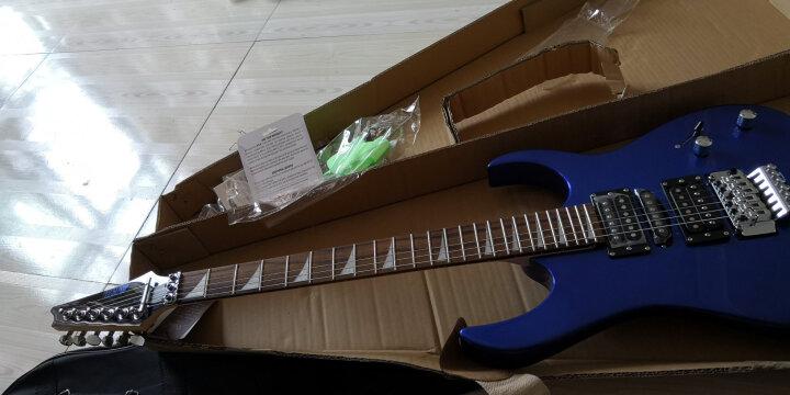艾薇儿(Avril) 艾薇儿24品双摇电吉他专业舞台演出摇滚重金属电子吉他初学者吉他免费刻字货到付款 性感红 晒单图