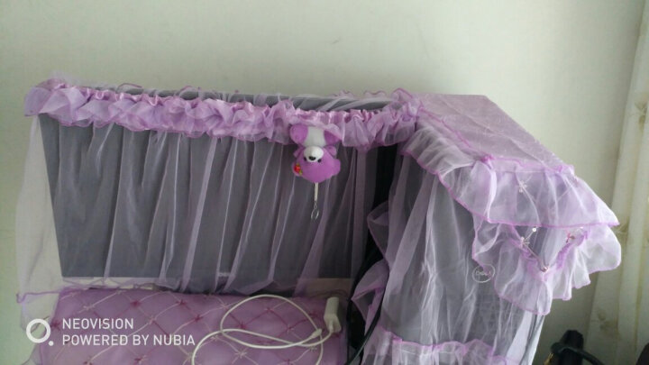 显示器装饰套子卡通蕾丝开机不取台式机电脑罩电脑防尘布盖巾液晶 卡通米八件套 24-27寸通用 晒单图