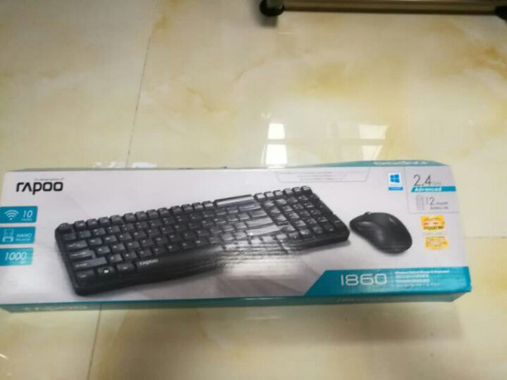 雷柏(Rapoo) 1860 无线鼠标键盘套装 无线键盘鼠标套装 无线键鼠套装 电脑键盘 笔记本键盘 黑色 晒单图
