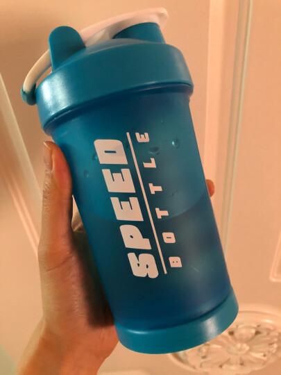 蓝极(Bluepolar)摇摇杯蛋白粉奶昔杯运动水杯健身搅拌杯旋风杯带刻度奶茶杯 升级版蓝色 晒单图