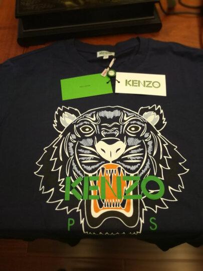 KENZO 高田贤三 男士白色棉质圆领短袖T恤 F85 5TS050 4YB 01 XL码 185/92A 晒单图