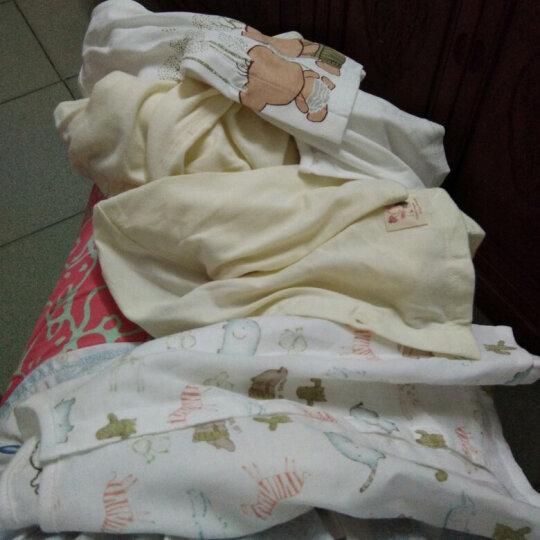 【没货下架】拉比婴儿内衣新生儿睡衣套装夏季薄款纱布男女童宝宝空调服 白色 59码/参考身高52-59cm 晒单图