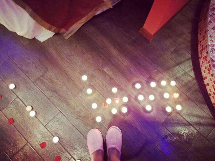 青苇 心形蜡烛20个 玫瑰花瓣 120片 结婚庆生日 情人节 求婚 浪漫组合套装 红色 晒单图