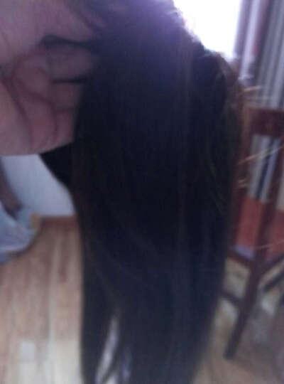美禾(Meihe) 真发假发片 女士头顶补发片 中老年遮挡头顶白发增加发量直发发片 齐刘海 栗色40cm 晒单图