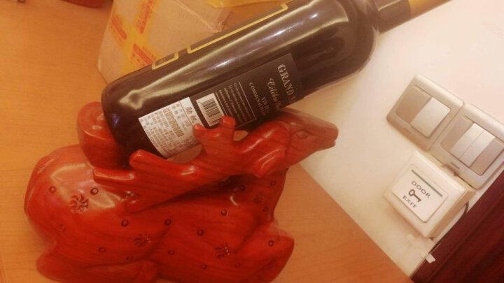 中式红酒架红木创意酒托木质酒柜摆件装饰品 鹿酒架 晒单图