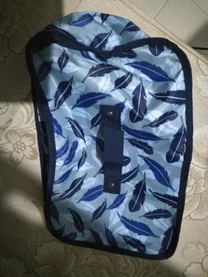 纳纳(nana)棉被袋收纳包收纳袋搬家手提袋打包袋子 编织袋行李包袋布袋旅行收纳袋 包装袋整理袋衣服 幽蓝红点 超大号70*45*36cm=113L 晒单图