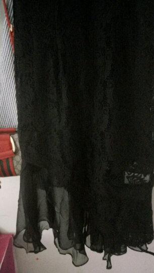 雪晶羊 2019春夏新款时尚唐装修身显瘦旗袍连衣裙刺绣婚纱绣花印花新娘装晚礼服汉服女 墨绿色 L 晒单图