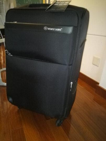 WEMGE SABRE瑞士军刀旅行箱万向轮拉杆箱男行李箱女20寸24寸 紫色 20寸 晒单图