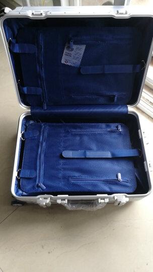 【轻奢轻韧 防刮铝框】铝框拉杆箱行李箱男士女士登机箱20寸24寸30寸28寸学生旅行箱密码行李箱 轻奢款 黑色 20英寸丨登机箱 晒单图