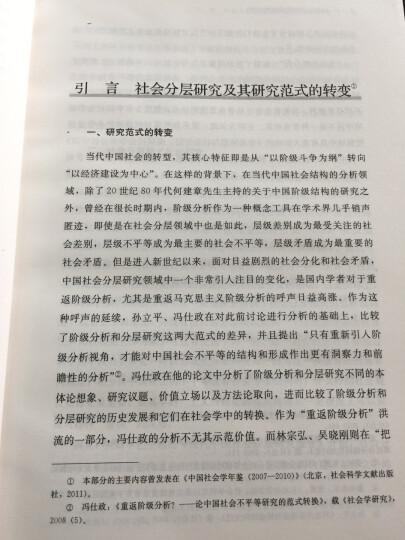 当代中国的阶层结构分析(社会学文库) 晒单图