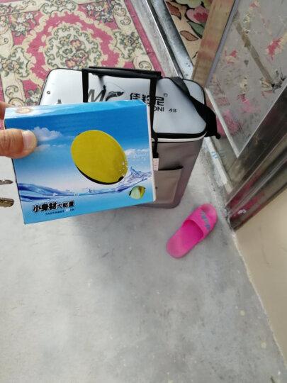 佳钓尼(JIADIAONI)伏魔折叠防水鱼护桶 加厚EVA双层鱼箱活鱼桶钓鱼桶 装鱼水桶 银灰色 52升 晒单图