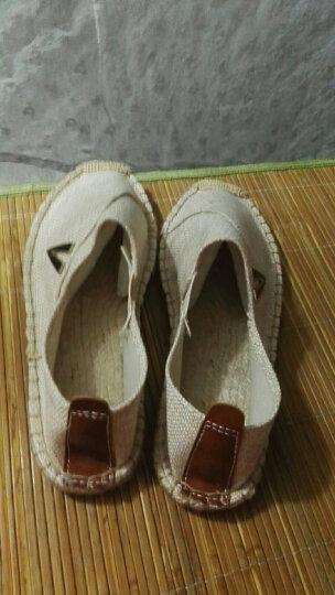 驰轩(ciition) 帆布鞋男秋冬亚麻鞋男士帆布鞋韩版透气休闲鞋青年布鞋子男潮 白色 43 晒单图