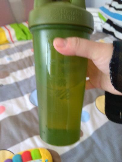 BlenderBottle 蛋白粉摇摇杯户外运动水杯带搅拌球 苔绿色约800ML 晒单图