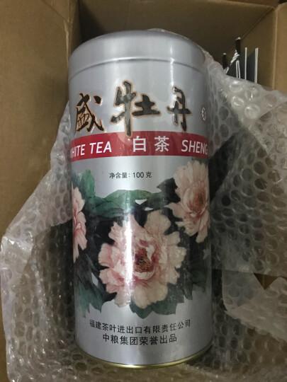 中茶中茶 蝴蝶牌 福建白茶 特级 盛牡丹白茶 罐装散茶100g 晒单图
