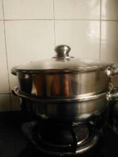 不锈钢蒸锅火锅双层馒头蒸笼汤锅焖锅电磁炉通用 晒单图