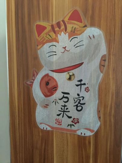 斯图(sitoo) 可移墙贴 撕开直接贴 ST8879《招财猫》客厅卧室背景贴 晒单图