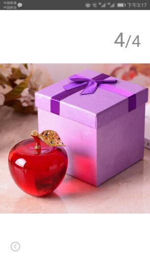 妙依居 创意水晶苹果元旦圣诞节礼物平安果定制生日礼品送女友女朋友闺蜜男友女生男生儿童老婆 水晶圆苹果-绿色+蓝牙音乐灯座 晒单图