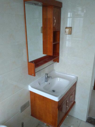 名爵(MEJUE) Z-6212090实木浴室柜卫浴柜组合套装卫生间洗脸盆柜 晒单图
