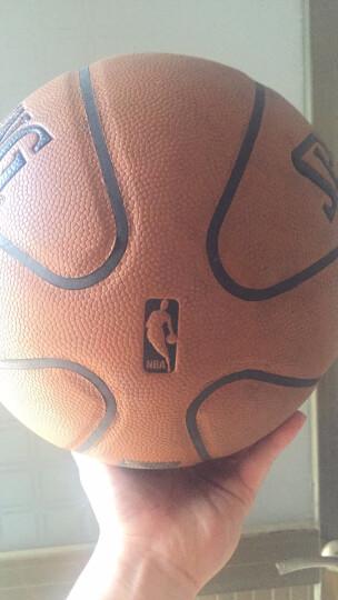 Spalding斯伯丁篮球PU水泥地耐磨NBA室内室外通用7号训练比赛用lanqiu 74-600Y(软皮两瓣) 晒单图