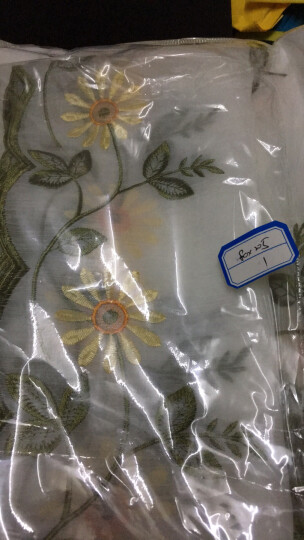 华欣窗帘提拉帘韩式田园罗马帘提拉帘成品纱绣花帘飘窗隔断窗纱 60822黄色雏菊-穿杆款(不含杆子) 宽0.8m*高2.05m 晒单图