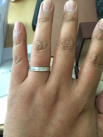 周生生Pt950铂金戒指一线牵白金对戒情侣结婚戒指 33577R 计价 25圈 - 4.7克(含工费380元) 晒单图
