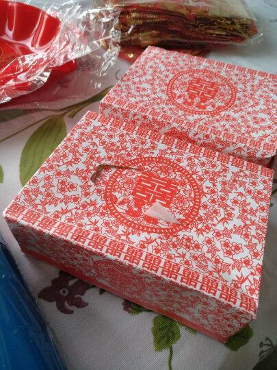 思泽 婚礼婚宴餐巾纸 结婚喜庆纸巾盒喜庆婚庆用品批发男方女方喜宴用的中式中国风 剪纸款一盒 晒单图