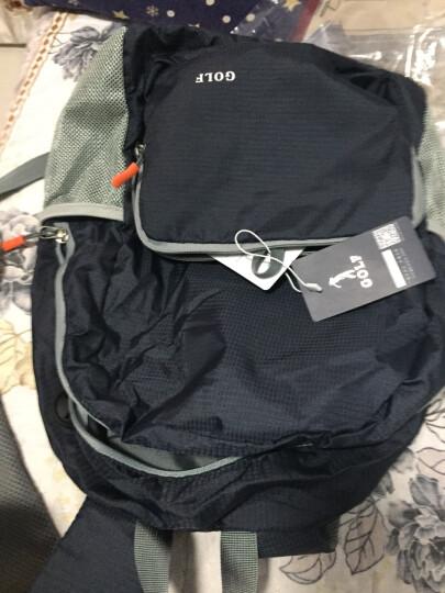 高尔夫GOLF升级版可折叠防水双肩书包大容量14/15寸电脑背包便携户外包 深蓝色 防水可折叠2732 晒单图