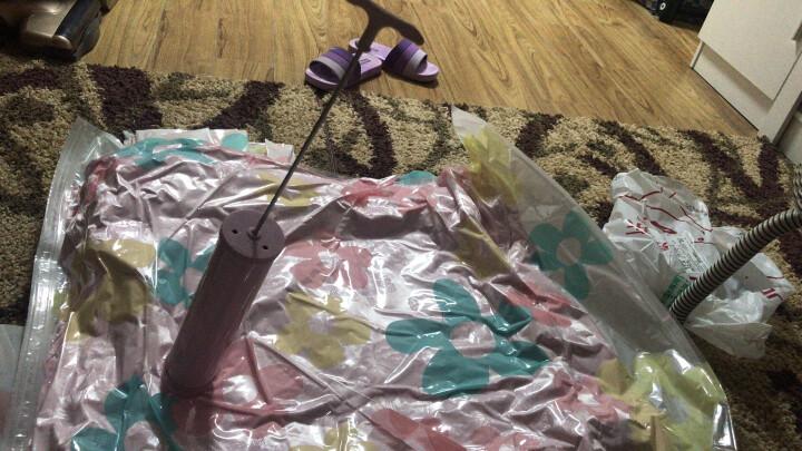 收纳博士真空压缩袋 收纳棉被衣物整理袋 太阳花款 【4大5中6小】 内含手泵电泵 晒单图