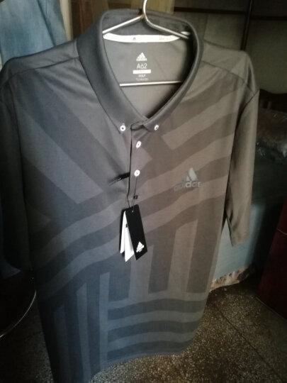 Adidas阿迪达斯短袖T恤男2018新品POLO衫 速干高尔夫服装 麻灰CV8827 3XL 晒单图