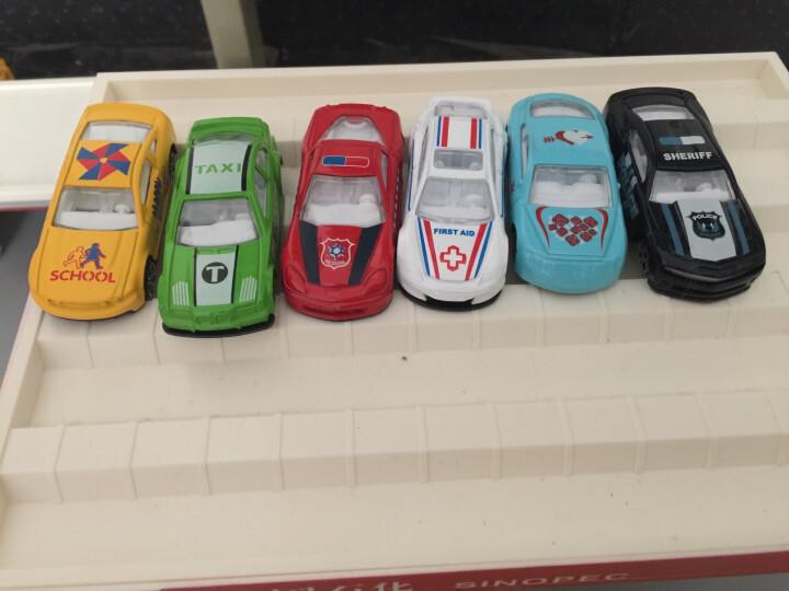 中石化加油站模型玩具场景套装洗车房加油站组合1014 中石化(无灯光版)+消防公仔(4只装)+5辆小车 晒单图